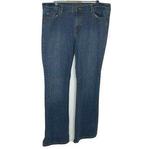 Tommy Hilfiger Womens Blue Bootcut Jeans Size 16 L
